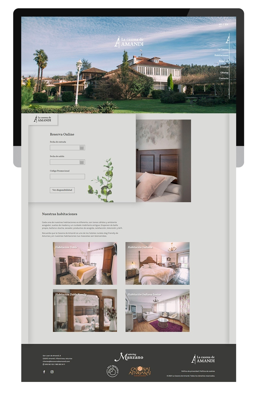 Diseño web La Casona de Amandi